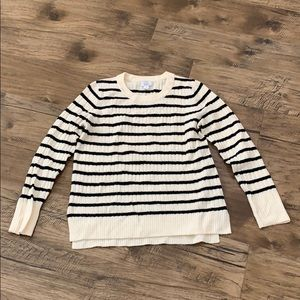 Black and cream striped sweated